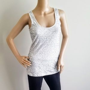 J. CREW XS SCOOP NECK SEQUIN TANK
